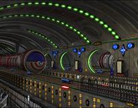 Sci-Fi Metro Station