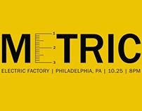 Metric Logo/GigPoster