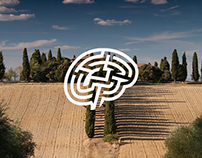 Labyrinth Brain Logo Template