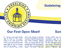 Swimming Club Newsletter Design