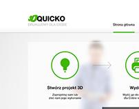 QUICKO 3D printing - site design