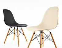 Free 3d model: Side Chair by Vitra Eames