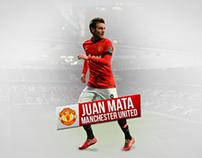 Juan Mata Manchester United Wallpaper 1360x768