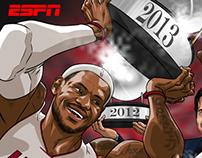ESPN Social Media Art