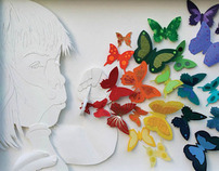 Paper Sculpture for Non-Profit Organization in Illinois