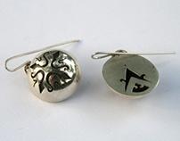 En Compass Earrings