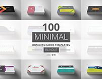 100 Minimal Business Cards Bundle