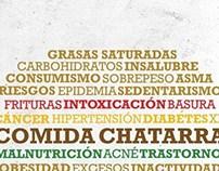 Afiche social//COMIDA CHATARRA