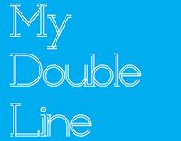 double line typeface