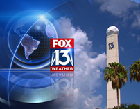 Various style frames - Fox 13 Weather Graphics