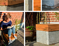 Wood | Concrete - an outdoor chair