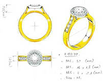 Diamond wedding ring. Aliança de diamante.