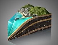 Vila Velha - Fatia de Bolo 3D