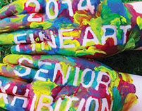 2014 Fine Art Senior Exhibition Promotional Materials