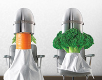 Légumes chez le coiffeur Bonduelle