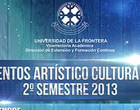 Carteleras Eventos masivos Universidad de La Frontera