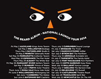The Beards - THE BEARD ALBUM - 2014 tour t-shirt