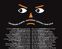 The Beards - THE BEARD ALBUM - 2014 tour t-shirt