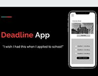 Deadline App UX
