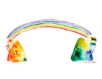 Rainbow blow