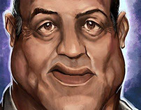 Caricatures of celebrities