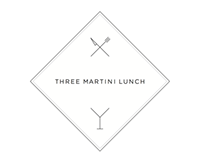 Branding for Three Martini Lunch: custom catering