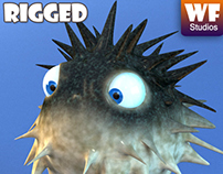 Cartoon Puffer Fish - For Sale