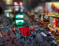 Times Square - Faux Tilt-Shift