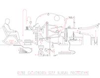 Rube Goldberg Self-Burial Prototype