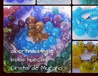 bolas huecas / Hollow beads / Cristal de Murano