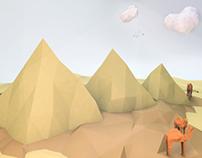 Pyramids Low-poly