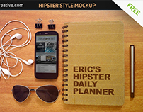 FREE Hipster style mockup template