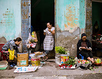 Street life in Nam Dinh (Vietnam)