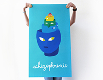 THE DESIGNER IS SCHIZOPHRENIC - Poster