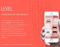 Level- a brand new motel service with interface design