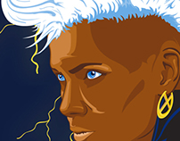 Storm from X-men Illustration