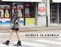 Catwalk to sidewalk