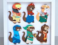 Paper cuts: Otter show