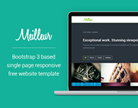One Page Free HTML CSS Website Template – Meilleur