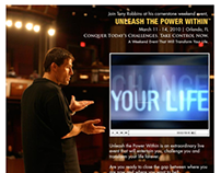 Tony Robbins Unleash The Power Within Facebook Campaign