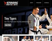 Martial Arts Website on Wordpress