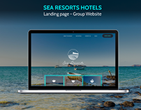 Sea Resort Hotels - Website Design