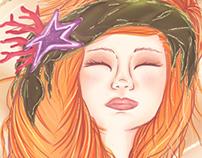 """Ilustración, Mitología Griega """"Afrodita"""""""