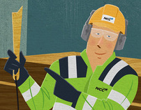 NCC calendar illustrations / theme: workplace safety