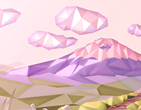 In touch with the Andes - Low Poly