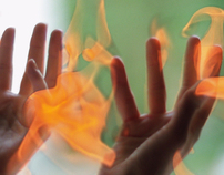 VFX design, Hands in flames