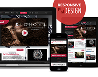 ChillerTV resonsive & visual redesign, 2013