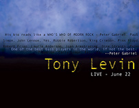 Tony Levin Playbill