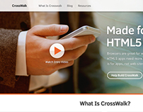 Intel Crosswalk microsite visual design