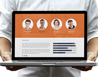 Futicat - One Page PSD Template